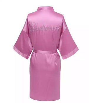 Bridesmade Robe Pink
