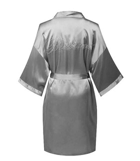 Bridesmade Robe Grey/Silver