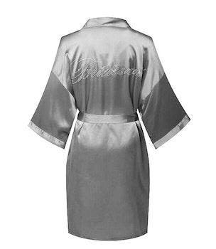 Bridesmade Robe Grey/Silver
