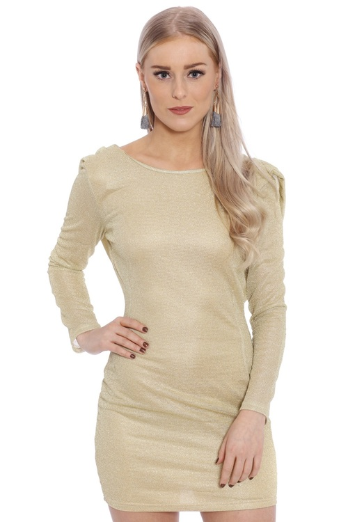 Mia Dress Gold