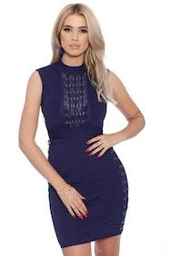 Jenna Bandage Dress Navy
