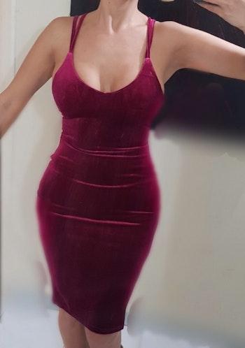 Liza Red Velvet Dress