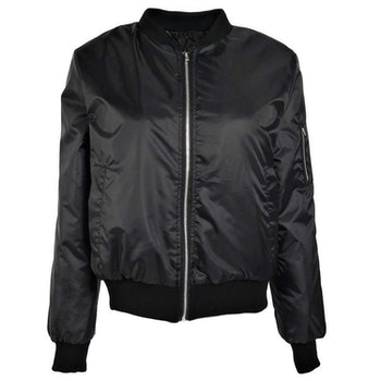 Thin Bomber Jacket Black