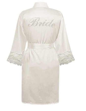 Bride Robe With Lace