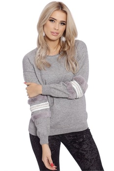 Babbi Faux Fur Grey
