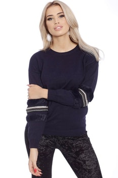 Babbi Faux Fur Navy