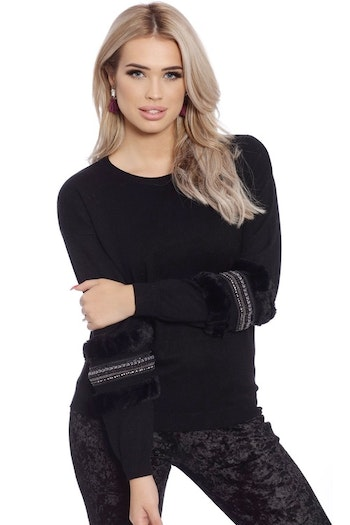 Babbi Faux Fur Black
