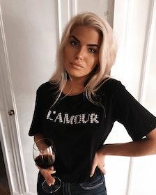 L´amour T-shirt Black