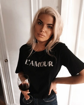 L´amour T-shirt Black