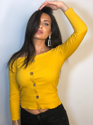 Ramina Top With Buttons Yellow