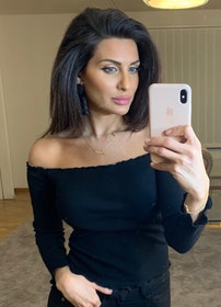 Adrianna Off Shoulder Long Sleeve Top Black