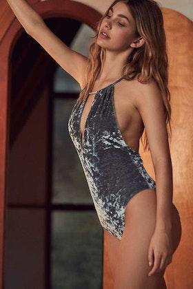 Irina Grey Velvet Body