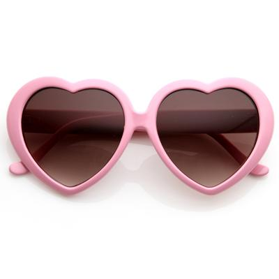 Heart Sunglasses Baby Pink