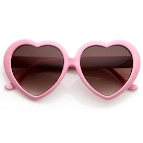 Heart Sunglasses Baby Pink