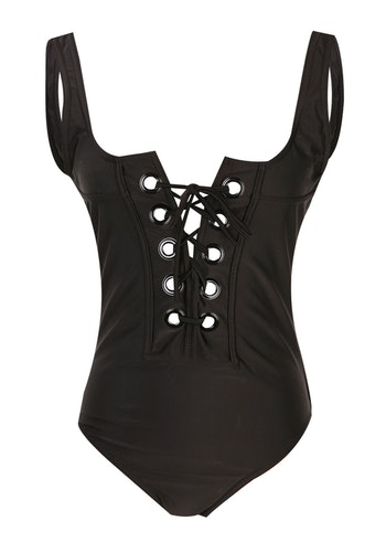Samantha Laced Up Swimsuit Black