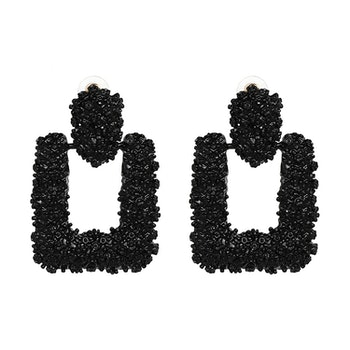 Ranya Black Earrings