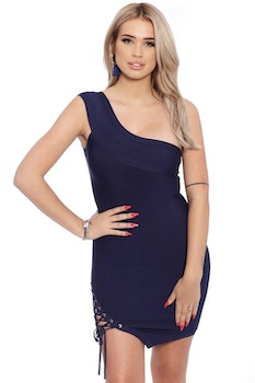 Bahare Dark Blue Bandage Dress