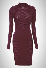 Karyme Bordeaux Dress