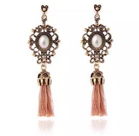 Cecilia Baby Pink Tassel Earrings