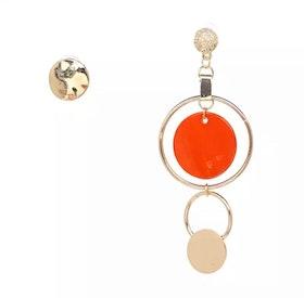 Asymmetric Bonnie Orange Earrings