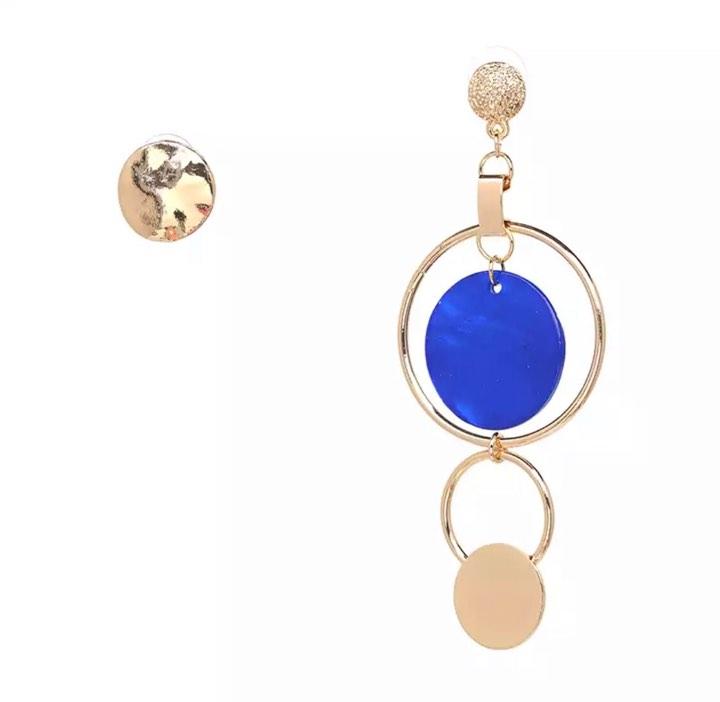 Asymmetric Bonnie Blue  Earrings