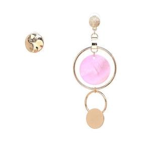 Asymmetric Bonnie Pink  Earrings
