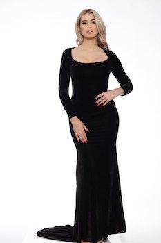 Morticia Blacka Velvet Dress