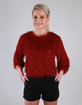 Cozy Chrissie Sweater Red