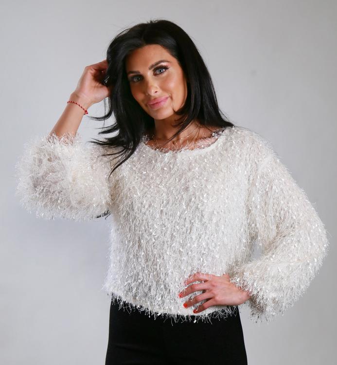 Cozy Chrissie Sweater White