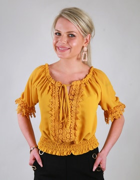 Sussie Top Yellow
