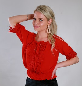 Sussie Top Red