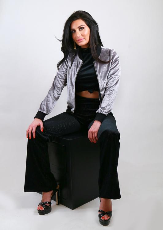 Velvet Jacket Silver