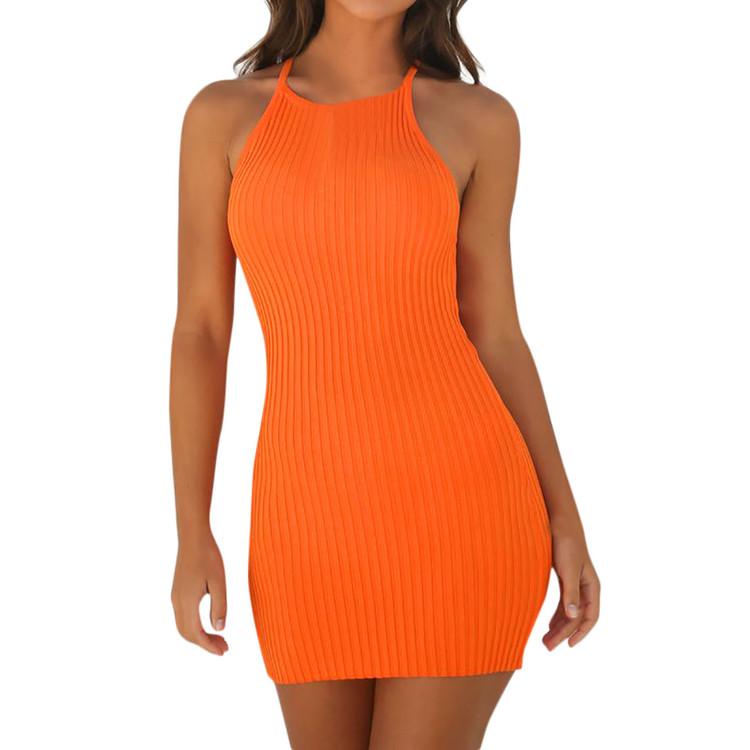 Miley Orange Dress