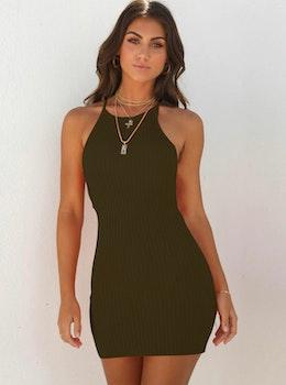 Miley Dark Green Dress