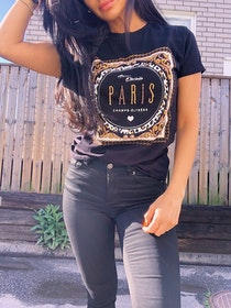 Paris T-Shirt Black