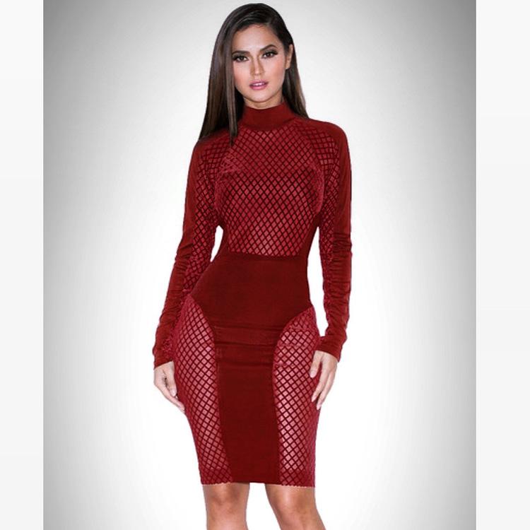 Karyme Bordeaux Dress