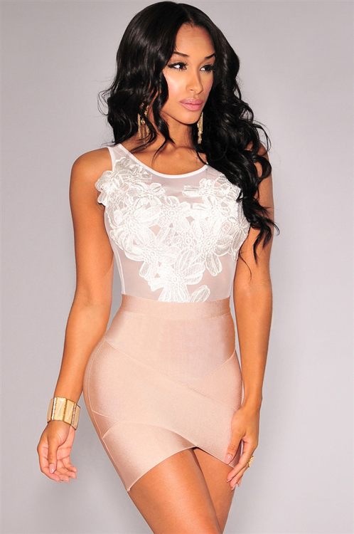 Melissa Body Lace White