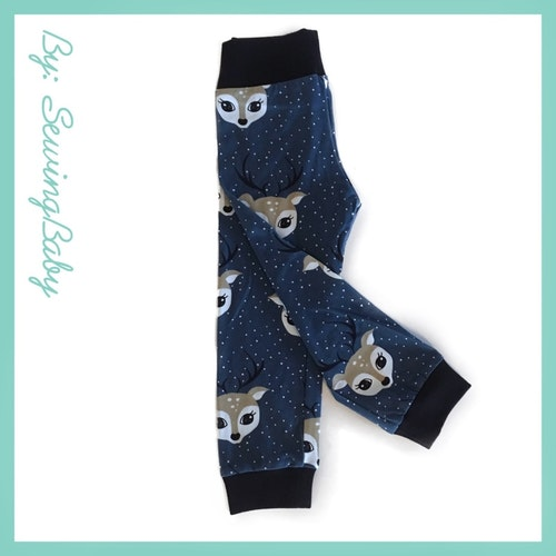 Sewingbaby - Leggins - Debbie Deer Blue