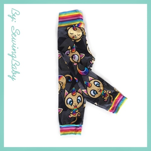 Sewingbaby - Little loose fit leggins - Unicats