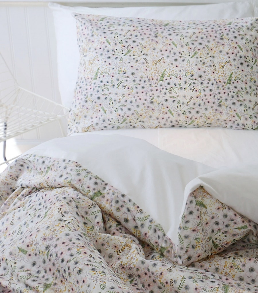 Anémone Eggshell White - Duvet cover / Single