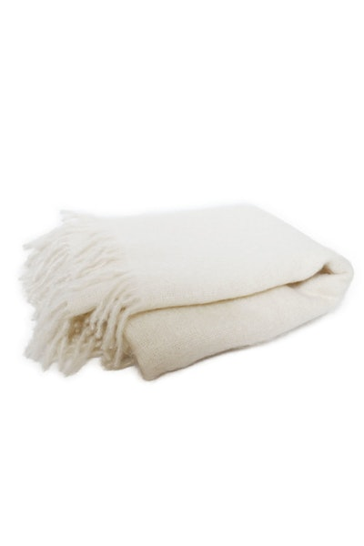Mohair Throw Eggshell