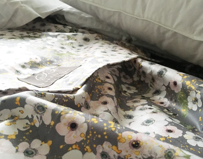 Anemone Dove Grey / Kids Flat Sheet