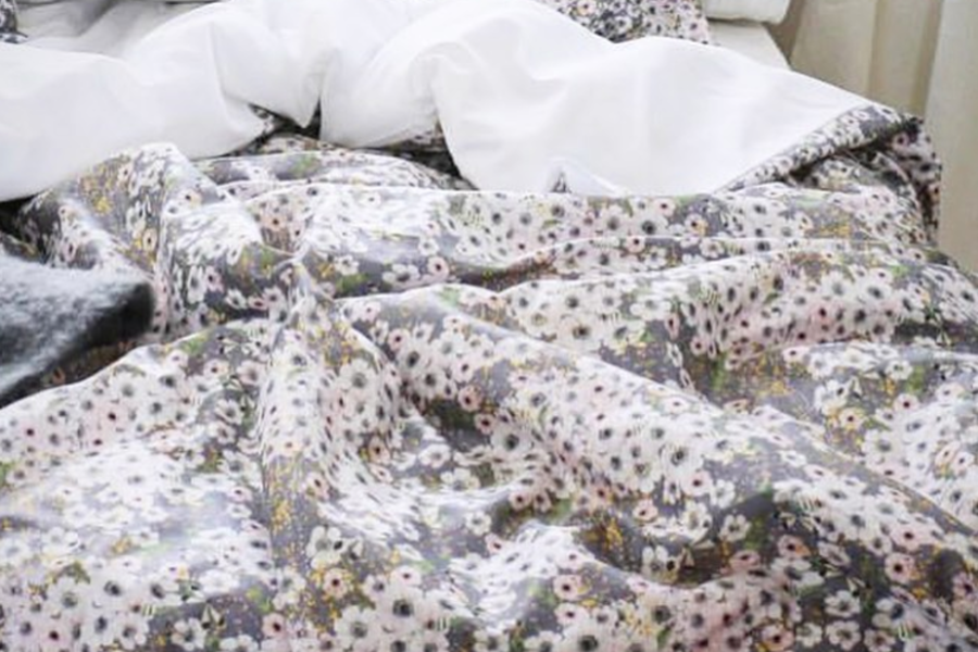 Anemone Dove Grey / Duvet Cover 150