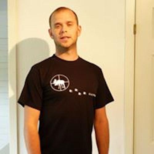 Älgjägare Svart T-shirt