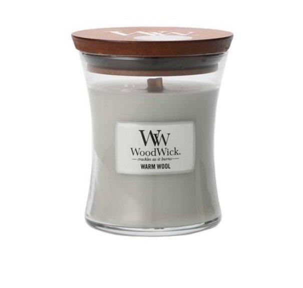 WoodWick - Warm Wool - Mellan Doftljus