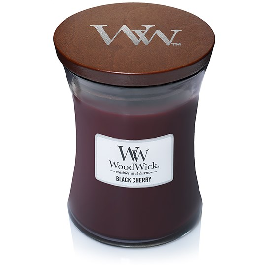 WoodWick - Black Cherry - Medium Doftljus