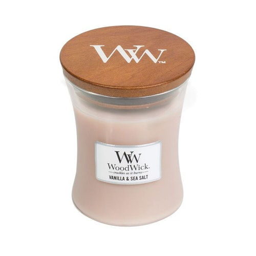 WoodWick - Vanilla & Sea Salt - Medium Doftljus