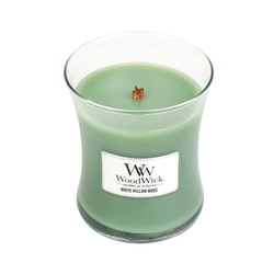 WoodWick White willow moss Medium Doftljus