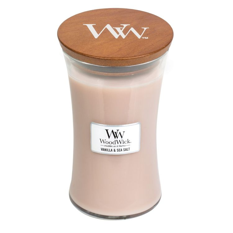 WoodWick - Vanilla & Sea Salt - Stort Doftljus