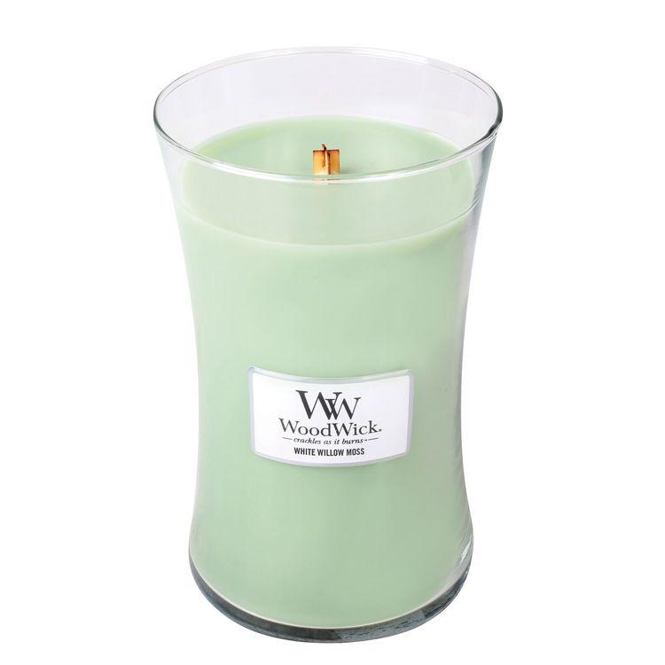 WoodWick - White Willow Moss - Stort Doftljus